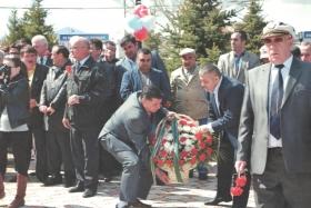 Открытие памятника, увековечивающего память сотрудников правоохранительных органов, погибших в горячих точках и в мирное время при исполнении служебных обязанностей